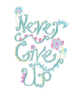 Never Give Up ETSY Green