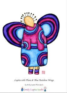 5-1 Lupita Wings Blue Purple Rainbow