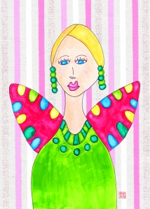 6-1 Portrait Ashley Green Dress