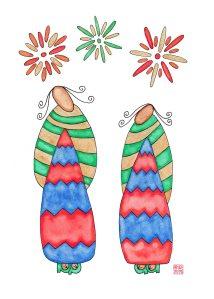 2-1 Fireworks Kimono