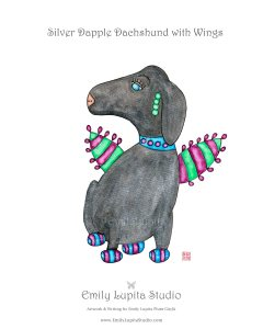 Silver Dapple Dachshund with Wings_Gallery Photo