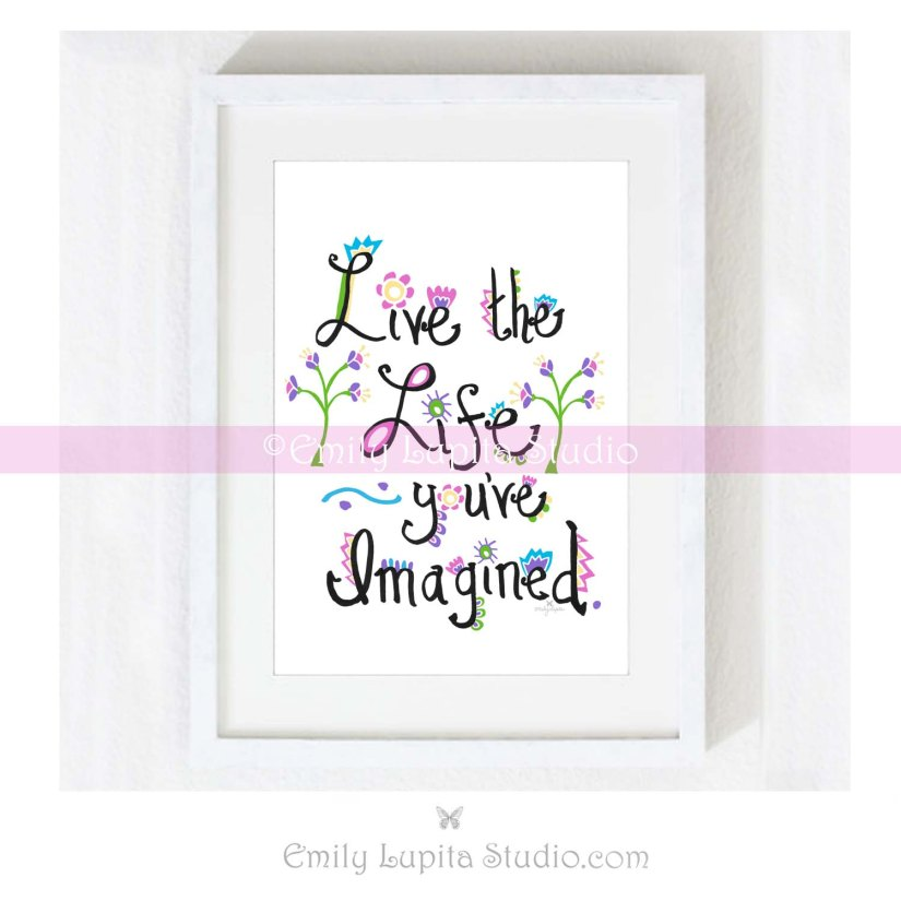 2 Live the Life_ETSY_CR_Framed