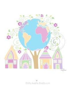 Globe World Tree Houses Neighborhood Community