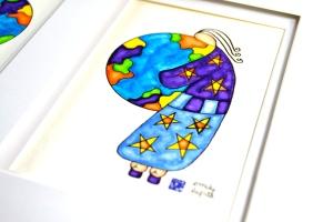 Emily Lupita Studio artist Emily Lupita watercolor painting stars