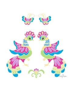 PRINT_Two Lupita Dancing Birds_by Emily Lupita Plum