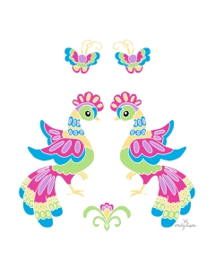 PRINT_Two Lupita Dancing Birds_by Emily Lupita Plum