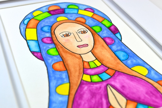 colorful woman painting