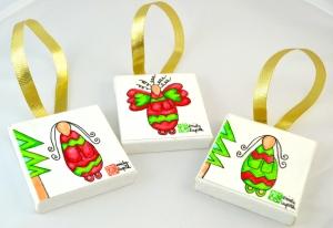 Emily Lupita Studio Christmas Tree Ornaments Handmade Artwork Holiday Gift Decoration