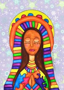 art print prayer peace Christmas holiday woman Holy Mother