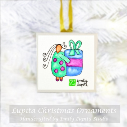 Emily Lupita Studio Christmas Tree Ornaments Handmade Artwork Holiday Gift Decoration