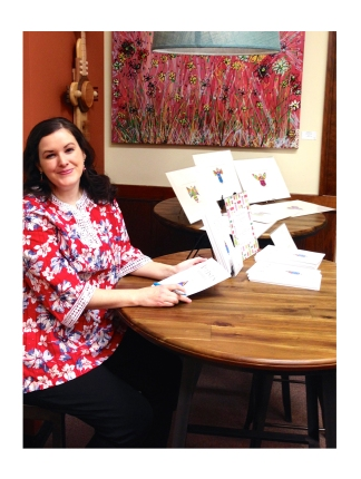 Artist Emily Lupita Book Signing MSAA Gallery Marietta Square local artist art book The Artist's Alphabet
