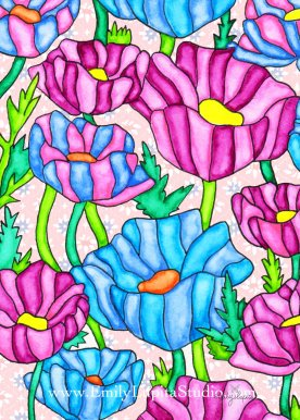 "Week 6 art print, ""Rainbow Spring"" by Emily Lupita Studio"