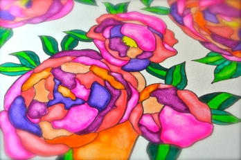 garden flower art watercolor painting