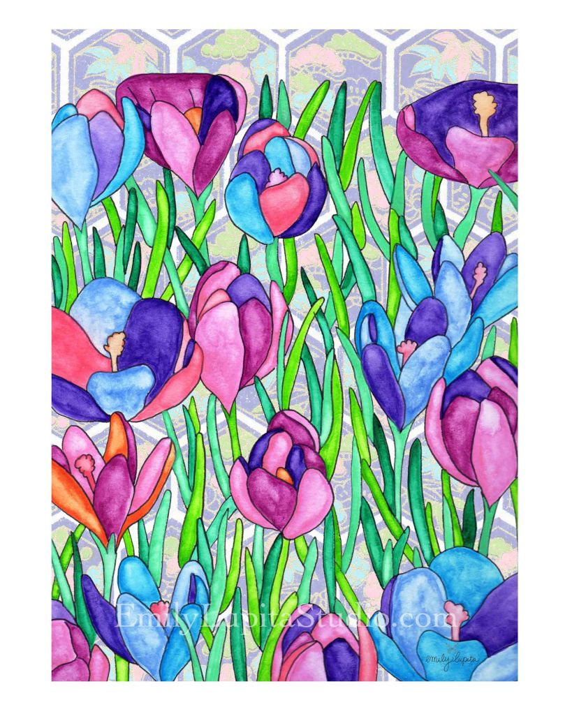 flower painting garden art