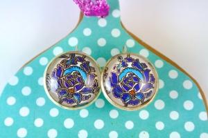 Turkish Art Earrings Handmade by Emily Lupita Studio