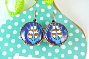 Turkish Art Earrings Handmade by Emily Lupita Studio