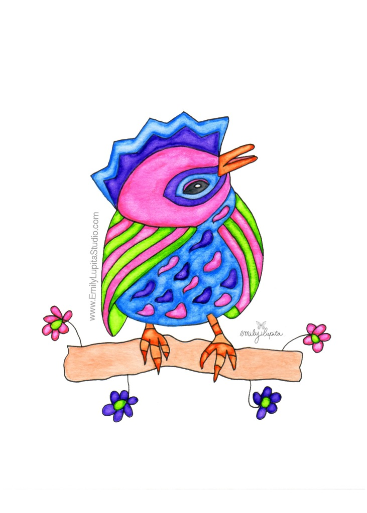 Charlie Bird #1 by artist Emily Lupita