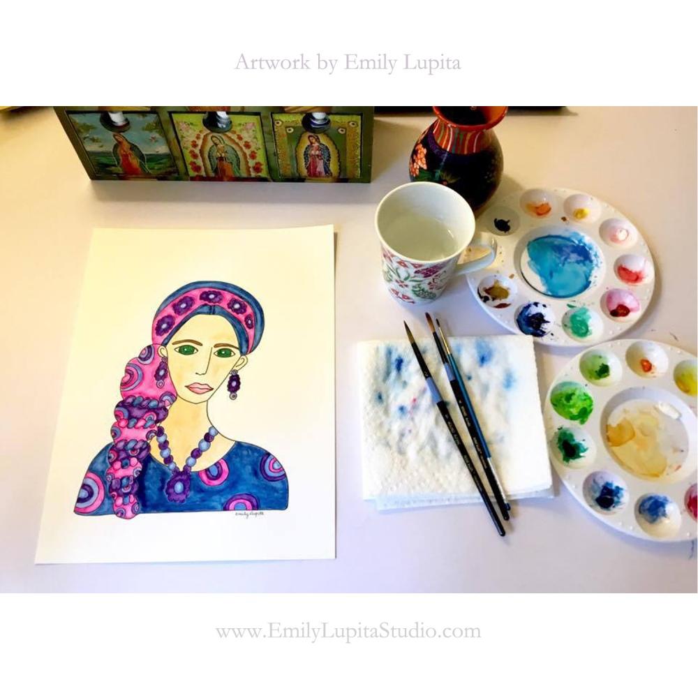 Art Desk Ashley Blue