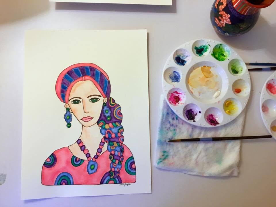 Ashley Pink Art Desk